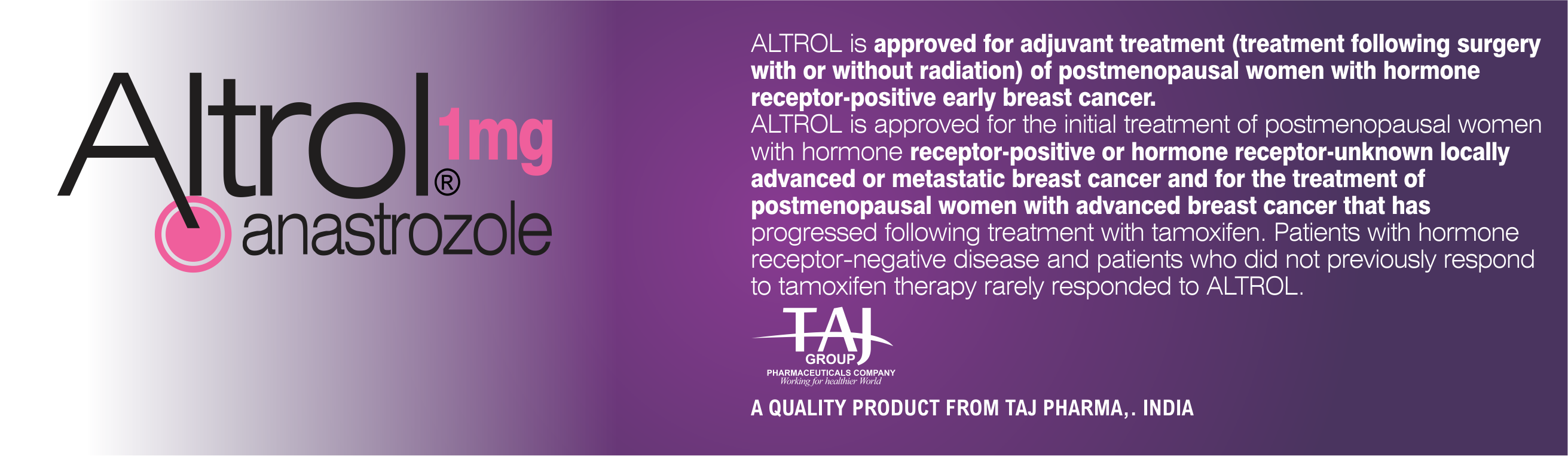 Order anastrozole.doc -  Only For Residents Of The India Taj Pharmaceuticals Limited Medicines Help To Treat And Prevent A Range Of Conditions From The Most Common To The Most