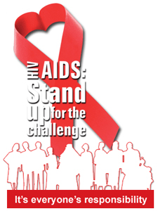 HIV Aids stand
