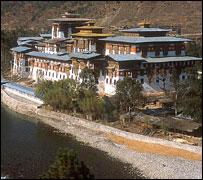 Phunaka Dzong (fortress), Bhutan