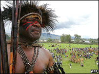 Lufa Lekena warrior at annual cultural festival