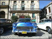Cuba has not imported cars or car parts from US since 1960