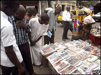 Newspaper stand, Lagos