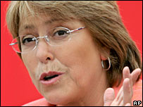 Chile's President Bachelet