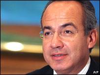 Felipe Calderon, Mexican president-elect