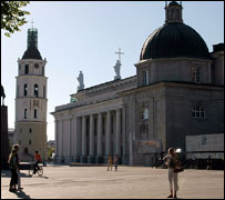 Main square and cathedral, Vilnius