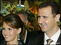Syrian President Bashar al-Assad and his wife Asma
