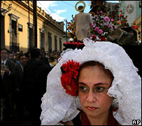 Virgin of Guadeloupe procession, Guatemala City, 2006