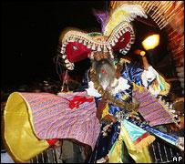 Dancer, junkanoo street festival, Nassau