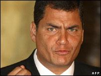 Rafael Correa, Ecuador's president