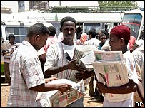 Newspaper vendors