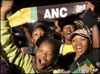 ANC supporters celebrate 2009 election victory