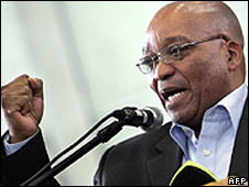 Jacob Zuma on the campaign trail