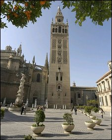 Seville's striking and monumental Plaza de Espana